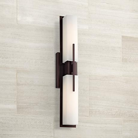 "Midtown 23 1/2"" High Bronze Bath Bar Light Fixture"