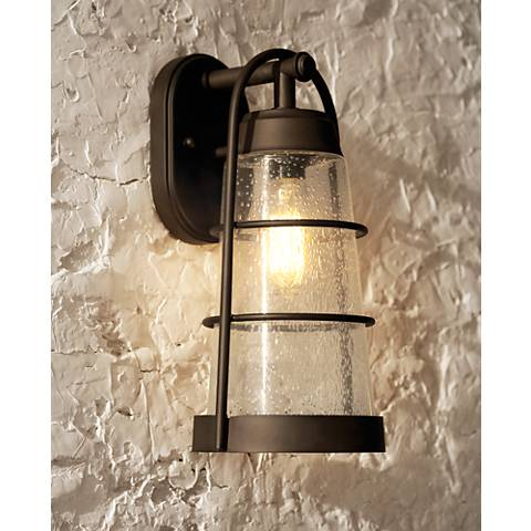 "Franklin Iron Works™ 14 3/4"" High Bronze Outdoor Wall Light"