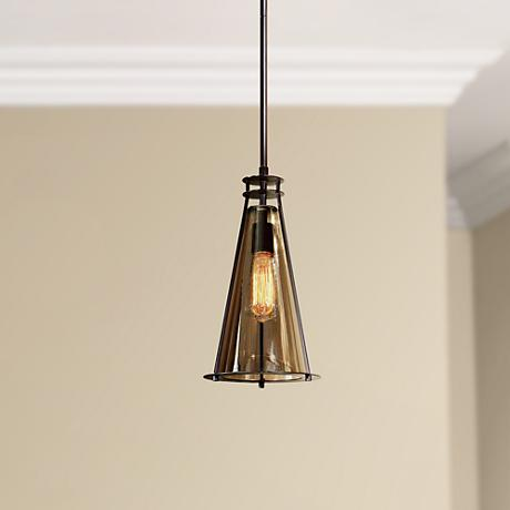 "Uttermost Frisco 8"" Wide Tinted Glass Mini Pendant"