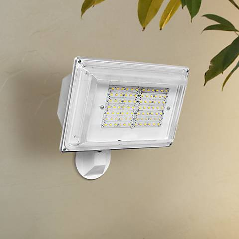 "12 1/4""H Dusk-to-Dawn White 42 Watt Outdoor LED Floodlight"