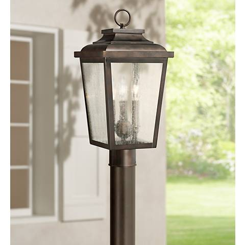 "Irvington Manor 18"" High Bronze Outdoor Post Mount Light"