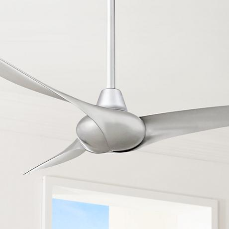 "52"" Minka Aire Wave Silver Ceiling Fan"
