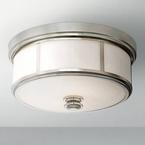 "Harbour Point 13 1/2"" Wide Polished Nickel Ceiling Light"