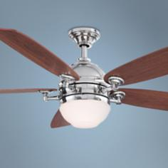 "52"" Fanimation Akira Polished Nickel Ceiling Fan"