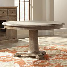 Belmont Stonewash Round Dining Table