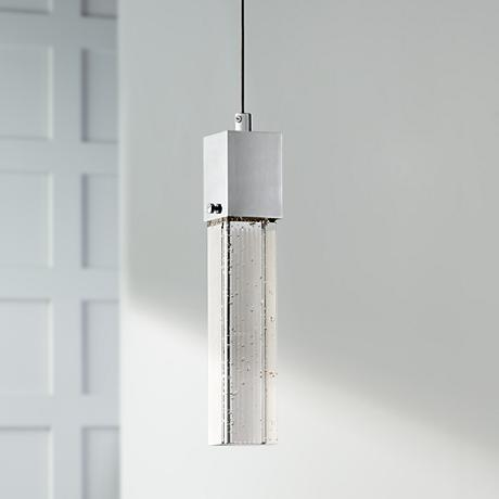 "Possini Euro Design Tinela 2 1/2""W Glass LED Mini Pendant"