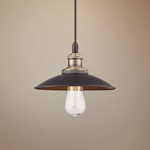 Widefield Brown Metal Mini Pendant Light