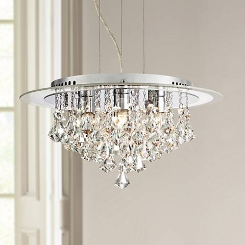 "Menos 15 3/4"" Wide Crystal Pendant Light"