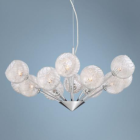 "Possini Euro Design Wired 29"" Wide Glass Orb Chandelier"