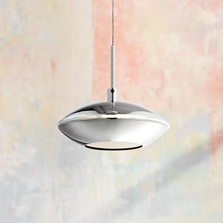 "LED Mini Pendant 4 3/4"" Wide in Chrome"