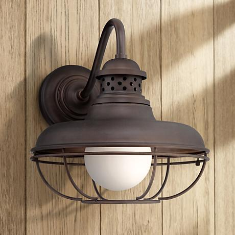 "Franklin Park Metal Cage 16 "" High Bronze Outdoor Wall Light"