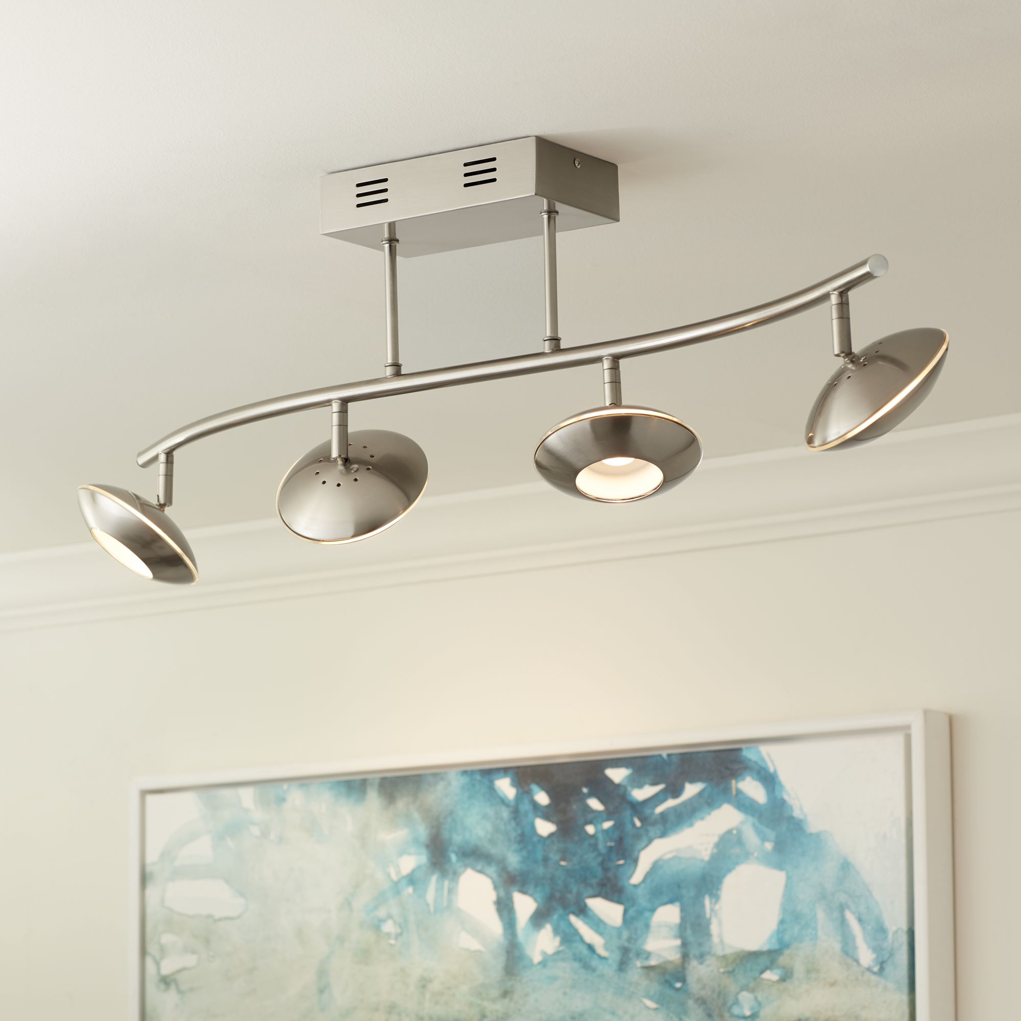 pro track thurston satin nickel 4led ceiling light