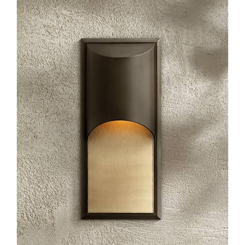 "Hinkley Cascade Bronze 18"" High LED Outdoor Wall Light"