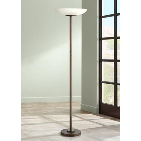 Possini Euro Design Meridian Light Blaster Torchiere Lamp