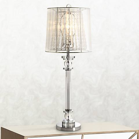 Isetta Double Shaded Glass Column Console Lamp