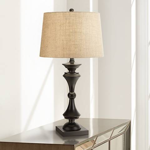 Eliot Bronze Industrial Table Lamp by Regency Hill