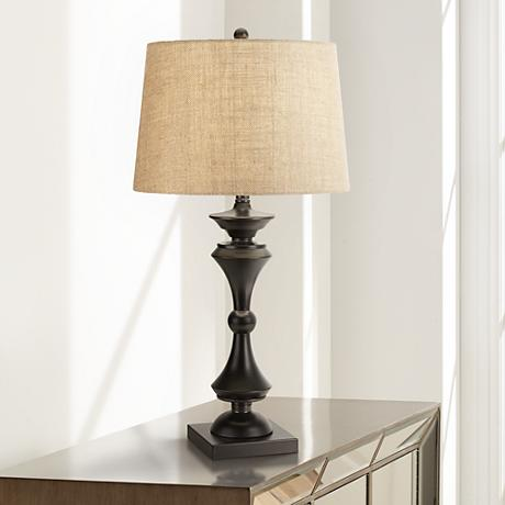 Eliot Bronze Industrial Table Lamp
