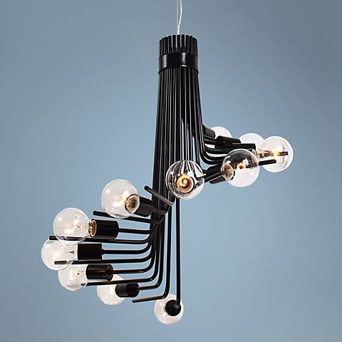 "Varaluz Socket-to-Me 26"" Wide Light Bulb Cluster Chandelier"