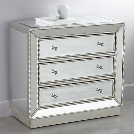 Trevi 3-Drawer Mirrored Accent Chest