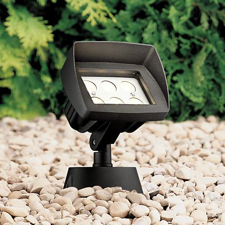 "Super Duty Eastham 8 1/8""-H Black LED Landscape Flood Light"
