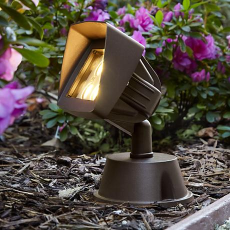 "Super Duty Eastham 8 1/8""-H Bronze LED Landscape Flood Light"
