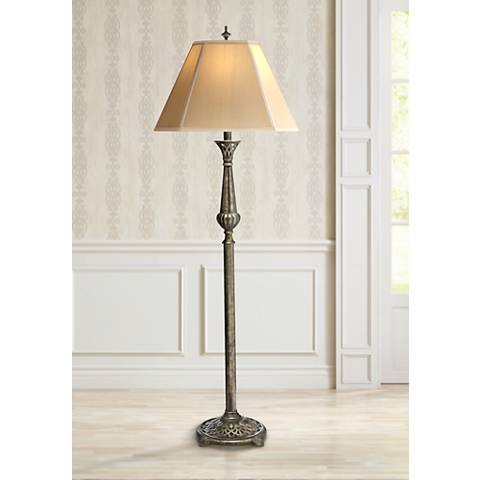 Stiffel Amber Tortoise Shell Traditional Floor Lamp