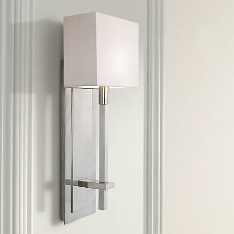 "Sonneman Montana 18 1/2"" High Satin Nickel Wall Sconce"