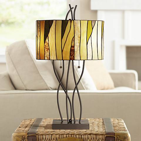 Oak Vine Table Lamp