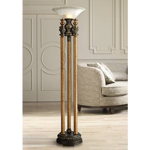Dimond Athena Bronze Torchiere Floor Lamp