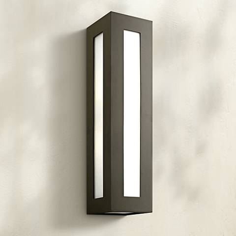 "Hinkley Dorian 25 1/4"" High Bronze Outdoor Wall Light"