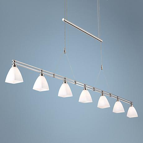 Holtkoetter Rulo Adjustable Satin Nickel Pendant Chandelier