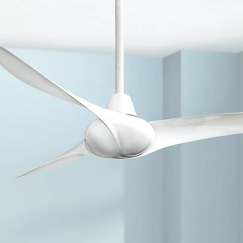 "52"" Minka Aire Wave White Ceiling Fan"