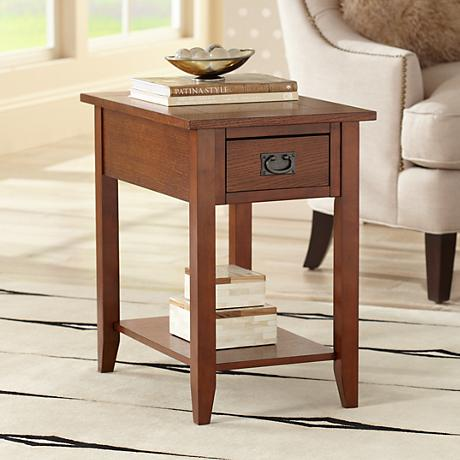 Robie Mission Style Chairside Table