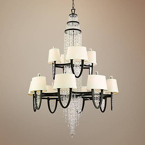 "Corbett Viceroy 42"" Wide Royal Bronze Chandelier"