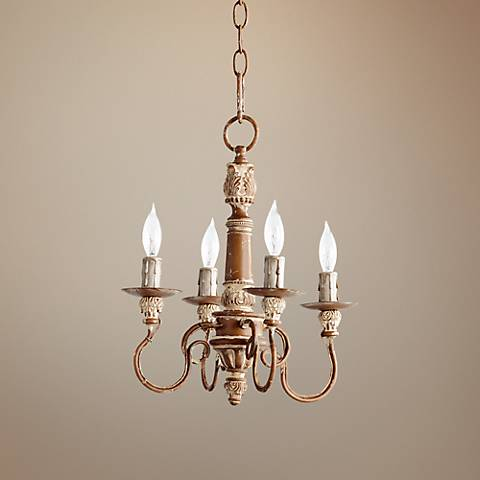 "Quorum Salento 12 1/2"" Wide French Umber Chandelier"
