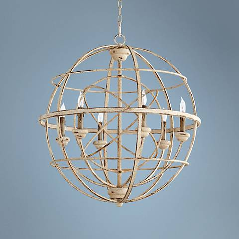 "Quorum Merci 26 3/4"" Wide Persian White Pendant Light"