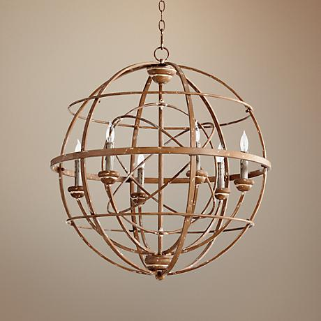 "Quorum Merci 26 3/4"" Wide French Umber Pendant Light"