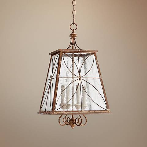 "Quorum Charme 15 1/4"" Wide French Umber Pendant Light"