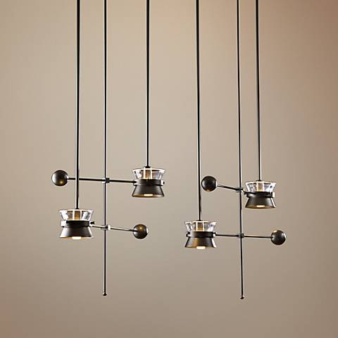 Hubbardton Forge Apparatus Dark Smoke 4-Light Pendant