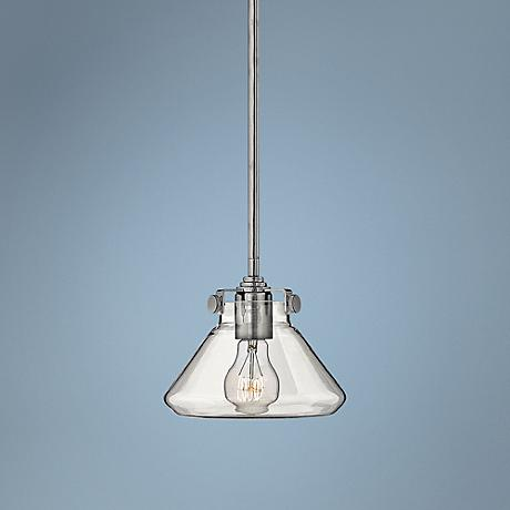 "Hinkley Congress 8"" Wide Clear Glass Chrome Pendant"