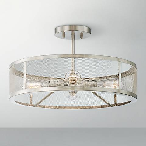 Muse Collection 4-Light Brushed Nickel Ceiling Light
