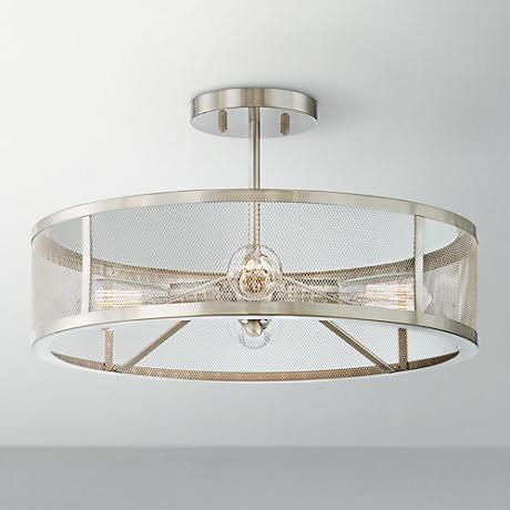 muse collection 4 light brushed nickel ceiling light
