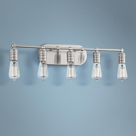 "Muse Collection 27 1/2"" Wide Brushed Nickel Bathroom Light"
