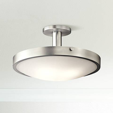 Kichler Lytham Brushed Nickel Satin Glass Ceiling Light