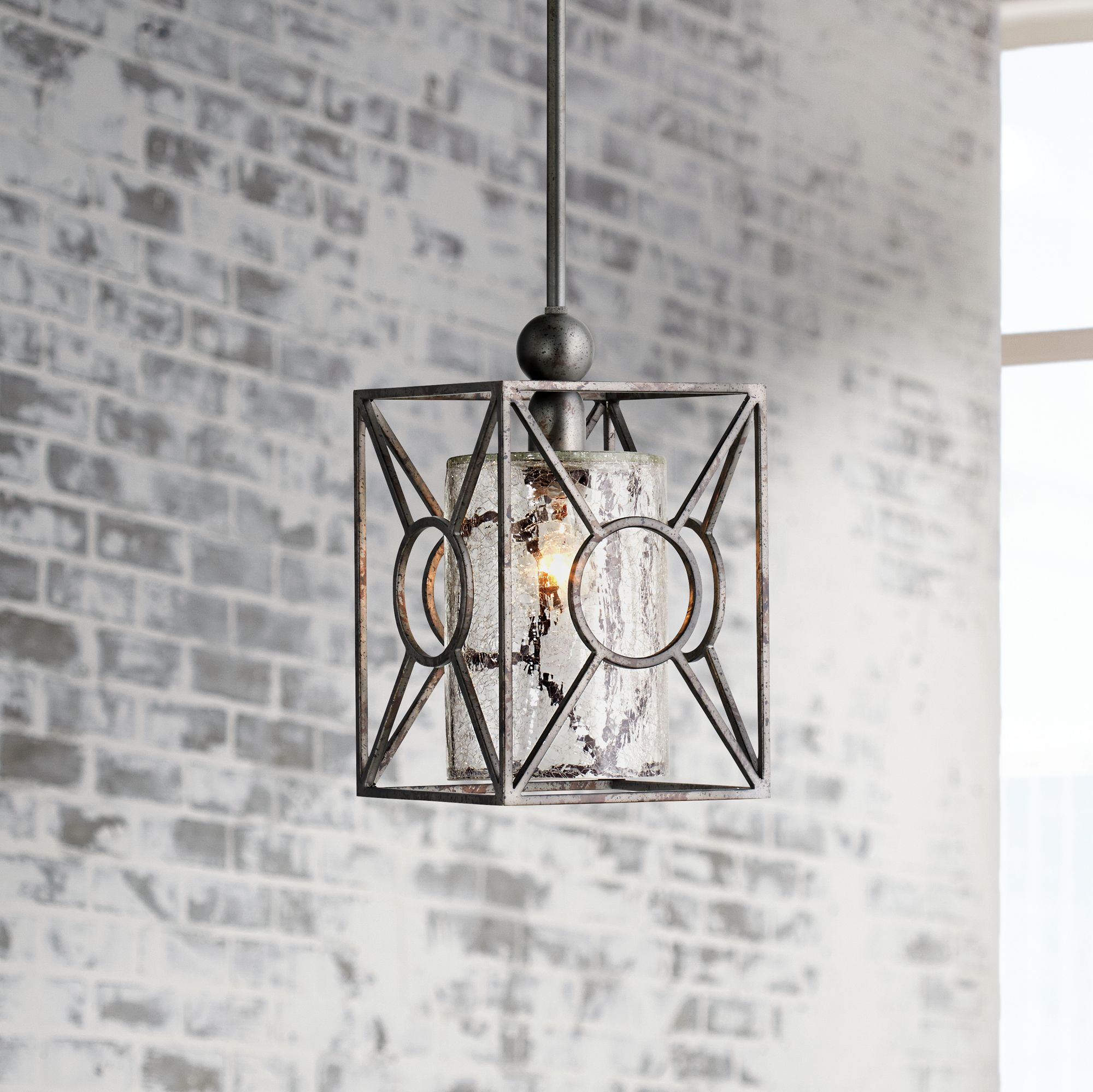 Arbela One Light Mini Pendant by Uttermost Lighting  sc 1 st  L&s Plus & Uttermost Mini-Pendant Pendant Lighting | Lamps Plus azcodes.com