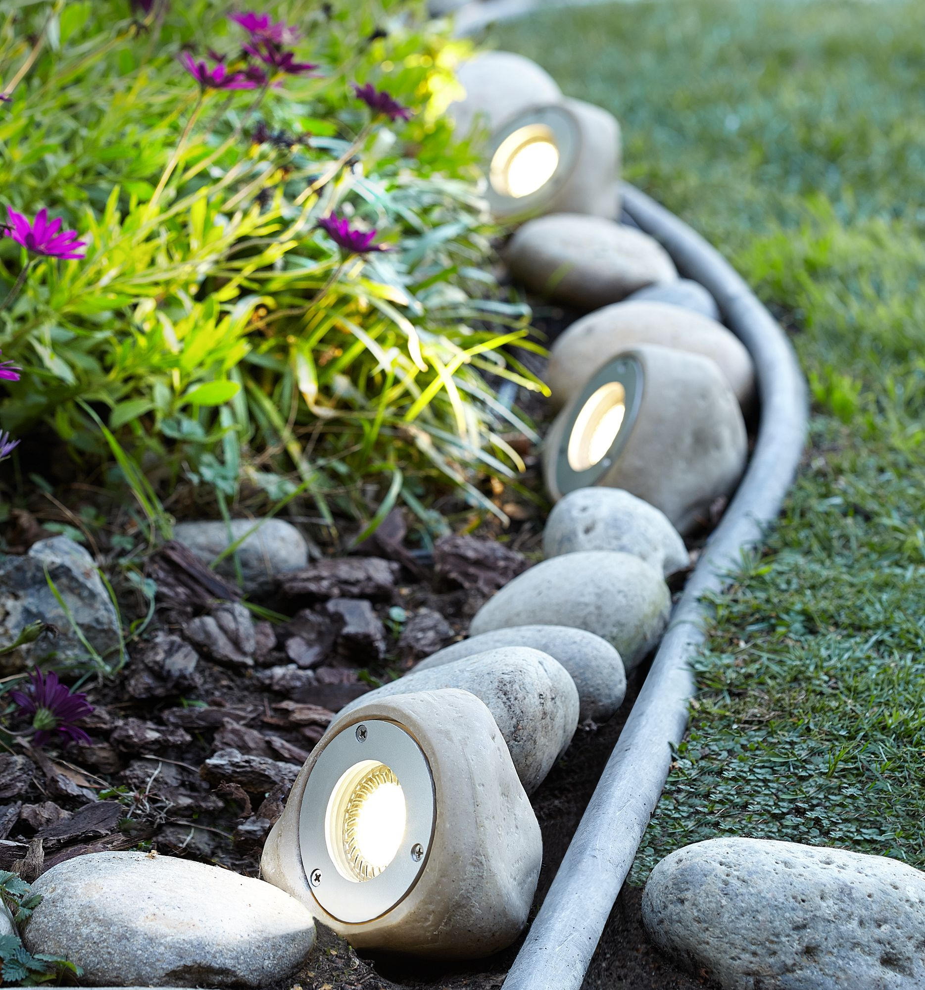 five light rock led landscape kit