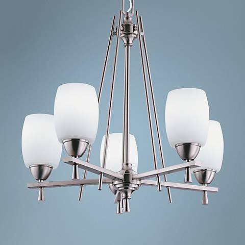 "Ferros 24""W ENERGY STAR® Brushed Nickel Chandelier"