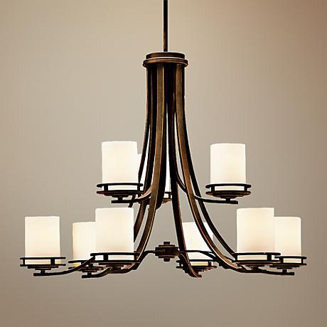 Hendrik Bronze 32 1 2 Quot Wide 9 Light Chandelier 31060