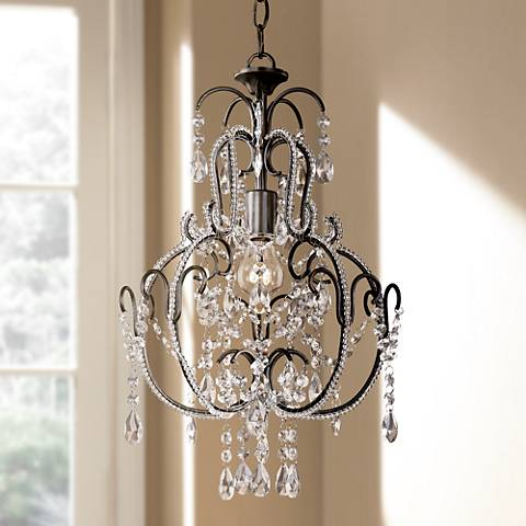 "Taylor Bronze 12 1/2"" Wide Mini Chandelier"