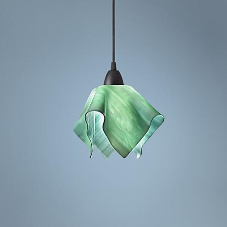 Jezebel Radiance Seafoam Green Small Flame Pendant Light